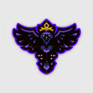 King Raven Mascot
