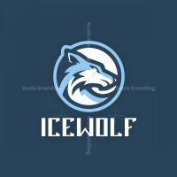 Ice Wolf Mascot Logo