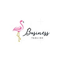 Artistic Flamingo Logo