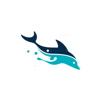 Diving Dolphin Logo