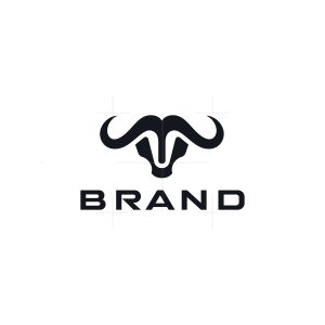 Minimalist Water Buffalo Logo