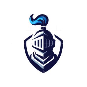 Blue Knight Mascot Logo