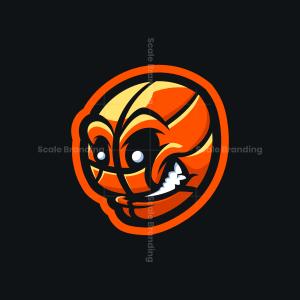 Basketball Game Ball Mascot Logo