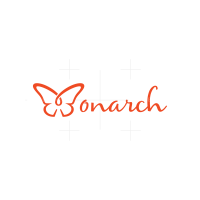 Beautiful Monarch Butterfly Logo