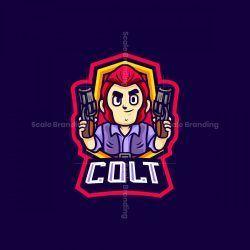 Colt Hero Mascot Logo