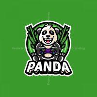 Cute Panda Mascot Logo