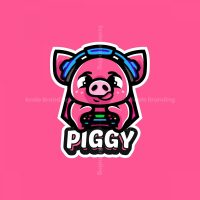 Cute Piggy Mascot Logo