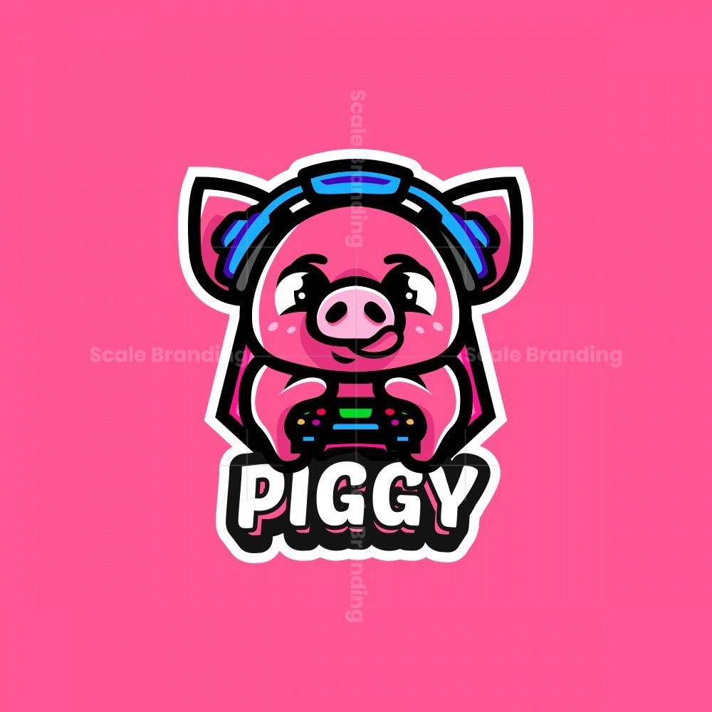 Cute Piggy Mascot Logo
