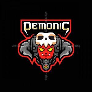 Demonic BO Mascot Logo