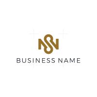 Elegant Letter NS Logo