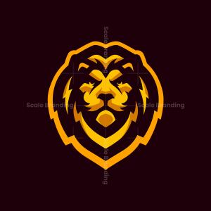 Cool Gold Lion Mascot Logo