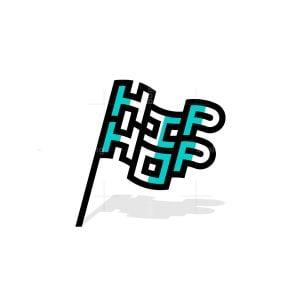 Hip Hop Flag Logo
