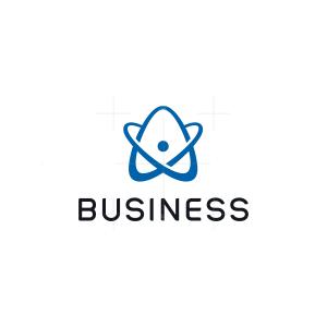 Letter A Atom Logo