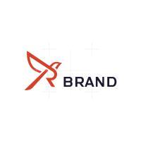 Letter R Robin Bird Logo