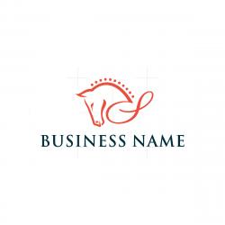 Letter S Horse Logo