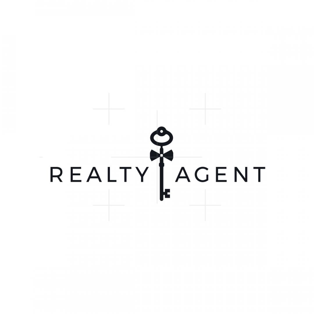 Male Real Estate Agent Logo