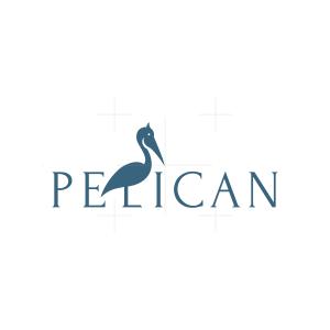 Minimalist Pelican Logo