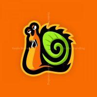 Snail Mascot Logo