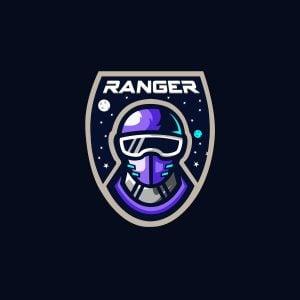 Space Ranger Mascot Logo