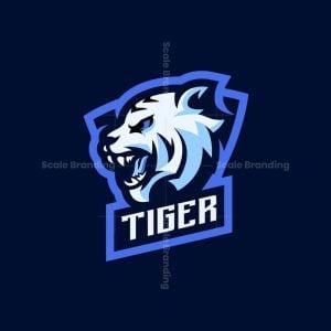 White Tiger Mascot Logo
