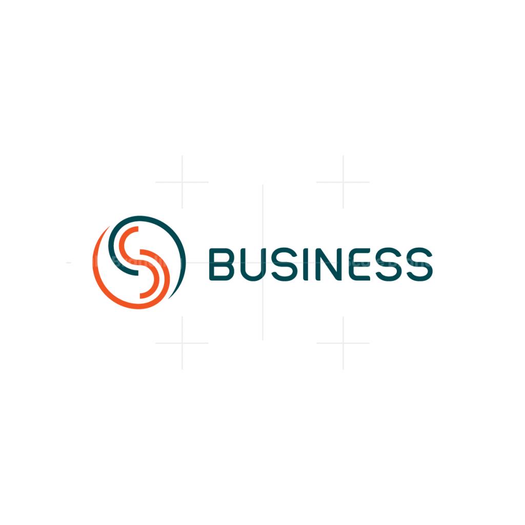 Yin Yang Letter S Logo