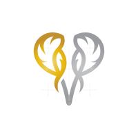 Gold Silver Elephant Head Logo