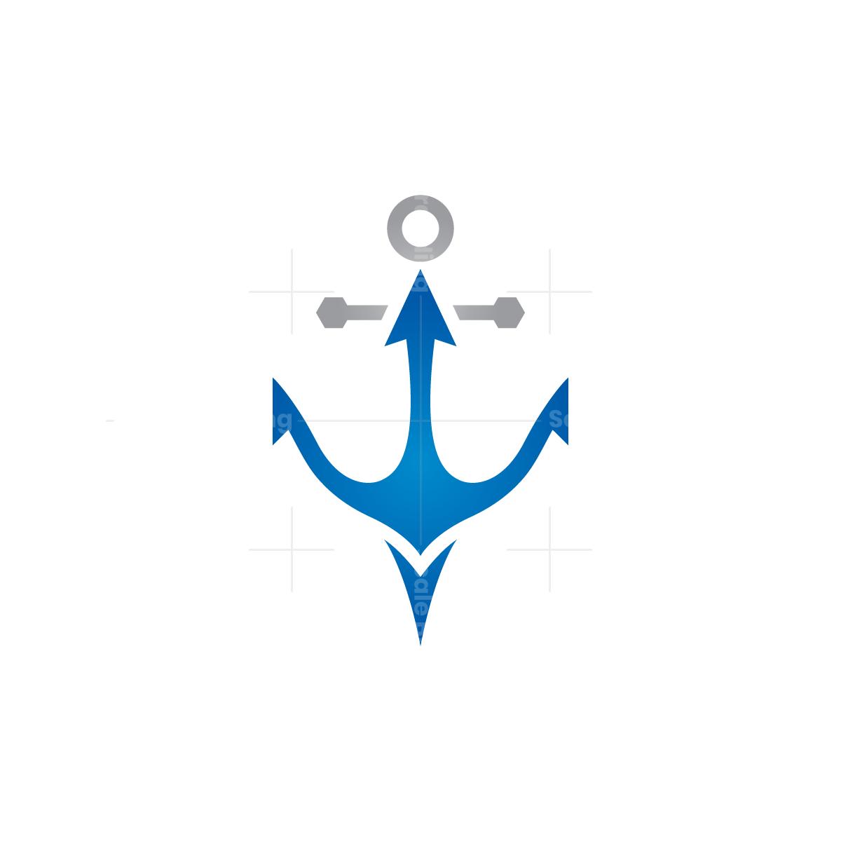 Anchor Trident Logo
