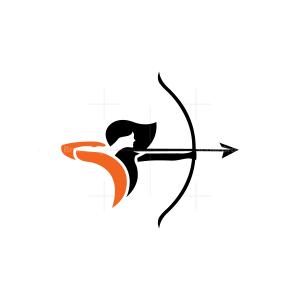 Artemis Logo Female Archer Logo