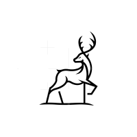 Awesome Black Deer Logo