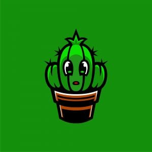 Baby Cactus Mascot Logo