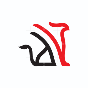 Black And Red Griffin Logo