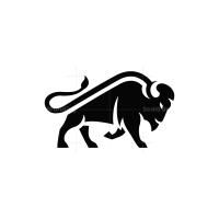 Black Bison Logo Buffalo Logo