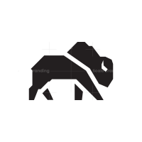 Black Bison Logo Buffalo Logo