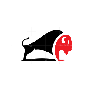 Red Black Bison Logo