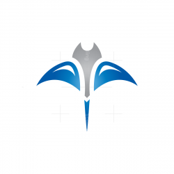 Blue Silver Stingray Logo