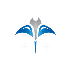 Blue Silver Stingray Logo