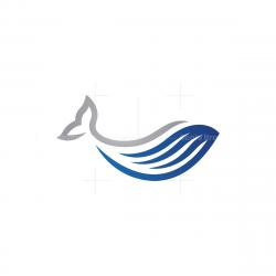 Blue Silver Whale Logo