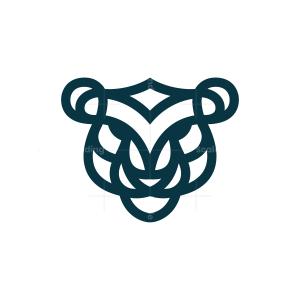 Blue Tiger Logo Tiger Head Logo