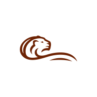 Body Stylized Lion Logo Capital Lion Logo