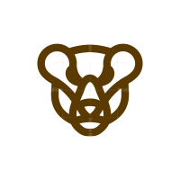 Brown Bear Head Logo