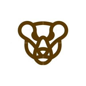 Brown Bear Head Logo