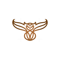 Brown Flying Owl Logo
