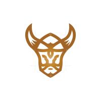 Brown Viking Head Logo
