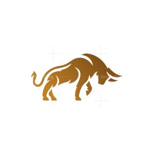 Brown Golden Bull Logo