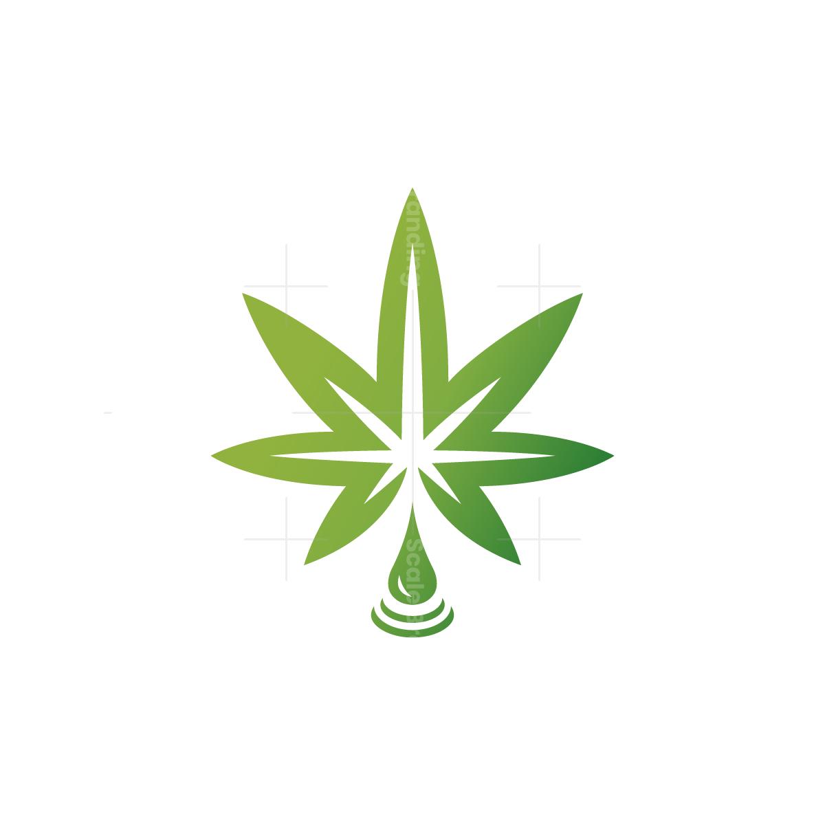Cbd Drop Cannabis Logo