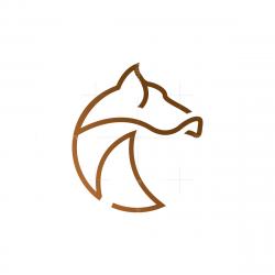 Circular Horse Head Logo