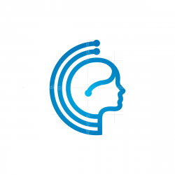 Tehmchnology Human Head Logo