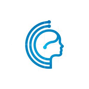 Technology Human Head Logo
