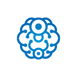 Connection Technology Brain Logo