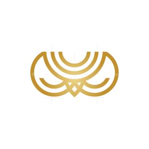 Crown Owl Logo Owl Head Logo